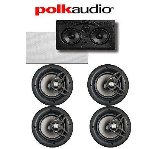 (4) Polk Audio V80 High Performance In-Ceiling Loudspeakers + (1) Polk Audio 255C-LS In-Wall Center Channel Loudspeaker Bundle
