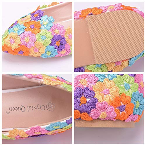 Ballet Flower Punta Da Flats A Sposa Con Punta 01Rail Color Ager Scarpe Women Shoes xx1fIHTq