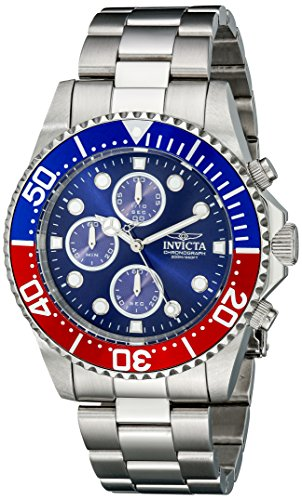Invicta Men's 1771 Pro Diver Collection Stainless Steel Chronograph Watch Chronograph Dive Watch