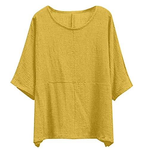 Bolawoo Color Mode Ladies Camiseta Corta Manga Redondo Gelb Cuello Sólido De Bat Flojo qAqWnHrT