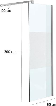 Mampara 60 x 200 x 100 cm rectangular Media Escarchado milchglas ...
