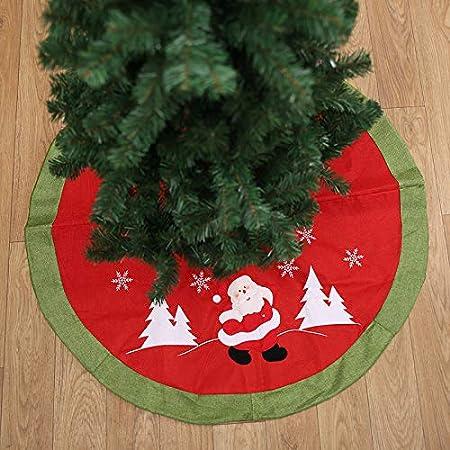 Treer Faldas Arbol Navidad, Árbol de Navidad Falda Alfombra ...