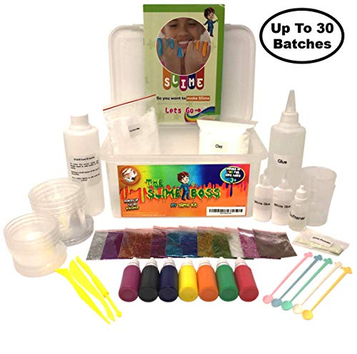 Huge DIY Slime Making Kit | All Supplies in One Box | Awesome Gift Idea | Clear, Color, Foam, Cream, Glow-in-The Dark, Glitter | Fun Science Boys & Girls | [Bonus: Slime Repair Instructions] -
