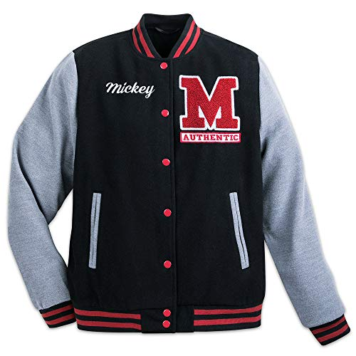 Disney Mickey Mouse Letterman Jacket for Adults Size Mens L Black456239048786