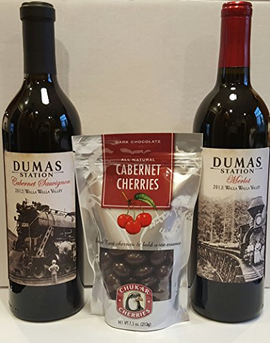 Dumas Station Walla Walla Valley Reds + Chukar Cherries Gift Set, 2 x 750 mL