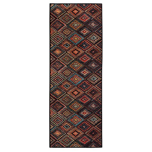 Ottomanson Authentic Collection Abstract Diamonds Design Area Rug, 2'2'' X 6'0'', Multi Color by Ottomanson (Image #2)