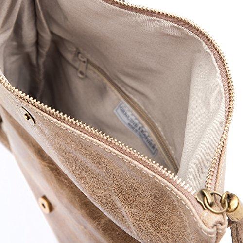 Clutch Taupe Fashion 19 Cm formel Sacs Bandouliére Cuir By 2059 4 28 Mod 7aw7rqv