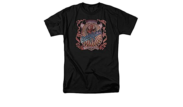 Dokken BACK ATTACK Licensed Juniors V-Neck Tee Shirt