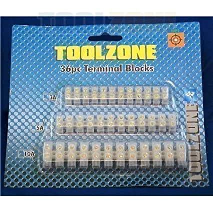 Toolzone 36 Piece Terminal Block Set (3A 5A 10A)