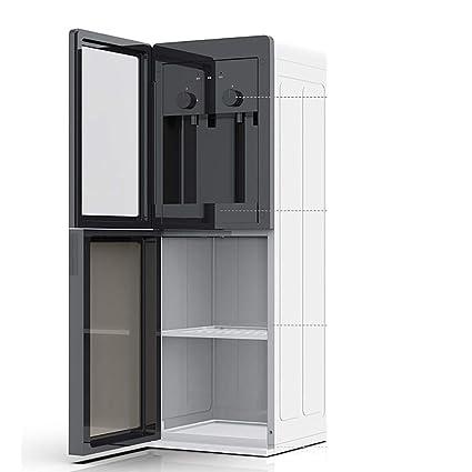 Dispensador De Agua Caliente Y Fría Vertical, Hogar Automático Aislamiento Hielo Doble Caliente Puerta De Vidrio Templado Refrigeración: Amazon.es: Hogar