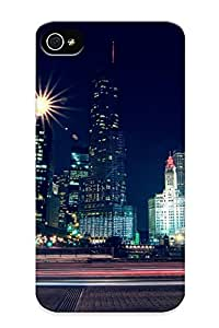 Hwnsob-4403-unmyiuy Tough Iphone 6 plus 5.5 Case Cover/ Case For Iphone 6 plus 5.5(chicago At Night) / New Year's Day's Gift