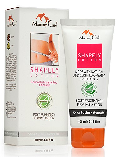 Mommy Care Shapely Post Pregnancy Firming Lotion 100 ml / 3.38 fl oz Postpartum Belly Firming Cream Tummy Tightening for After Pregnancy Certified Organic All Natural Soothing Cream for (Mommy Care)
