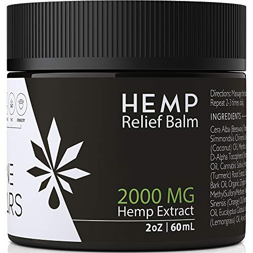Pain Relief Hemp Balm - 2000 MG - Arnica Oil MSM Turmeric Menthol - Hemp Oil Extract - Pain Relief for Back Pain Sciatica Nerve Fibromyalgia Shoulder Joint Knee Pain Anxiety Relief