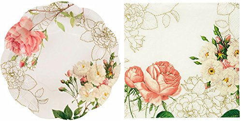 Talking Tables Party Pack - Blossom & Brogues Plates and Napkins