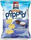 Cheap Quaker Popped Rice Crisp Snacks, Gluten Free, Sea Salt & Cracked Pepper, 6.06oz Bags (Pack of 6 Bags)