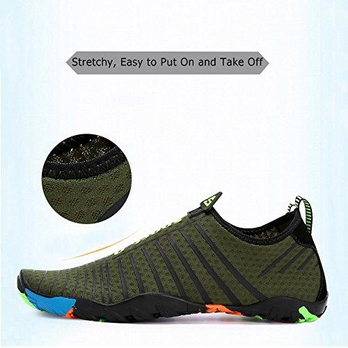 de Shoes Playa para Yoga Descalzo Saguaro Verde Aqua de Rayas Skin Resaca la de la la acuático Calcetines Nadada de 7PxYqw5xT
