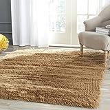 Safavieh FSS115E-8 Faux Silky Sheepskin Camel Area Shag Rug (8' x 10')