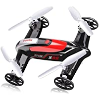 AMPERSAND SHOPS Hybrid X9S Flying Car Quadcopter 2.4GHz 4CH 6-Axis 360-Degree Eversion Function (Black)