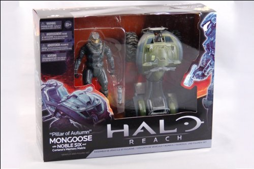 Mongoose Vehicle - Halo Reach McFarlane Toys Deluxe Vehicle with Action Figure Boxed Set Pillar of Autumn Mongoose Noble Six Cortanas Memory Matrix by Unknown