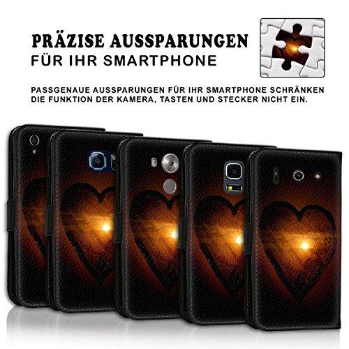 Wallet Book Style Flip Handy Tasche Case Schutz Hülle Schale Motiv Etui für Apple iPhone 6 Plus / 6S Plus - Design Flip MV148