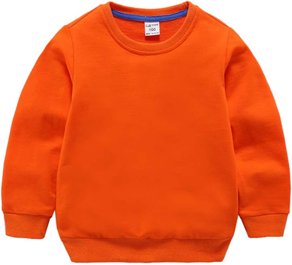 Kimjun Little Kid Sweatshirt for Girl Boy Pullover Sweater Baby Cotton Long Sleeve Shirt Outfits 1-7t