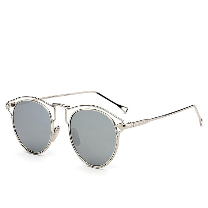 WKAIJC Mode Individualität Komfort Freizeit Pfeil Frauen Der Zustrom Von Menschen Sonnenbrillen Metall Hell Sonnenbrille,D