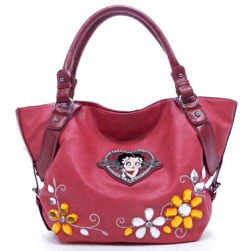 Betty Boop Bolsa de Asas de los Bolsos y de Las Carteras con la Piedra Preciosa
