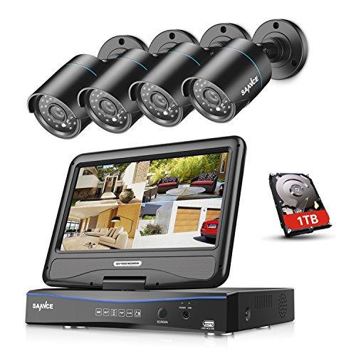 Sannce 8 CH 720P CCTV DVR Recorder with 4 PCS Day Night Weatherproof...
