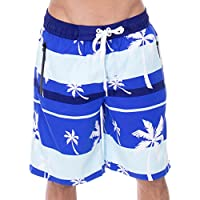 Bañador de natación para hombre forro de malla anudado Junta Pantalones Cortos con bolsillos