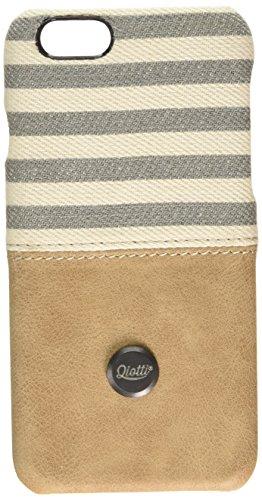 QIOTTI QX-C-0110-05-IP6 Snapcase Q.Snap Denim Premium Echtleder für Apple iPhone 6/6S grau