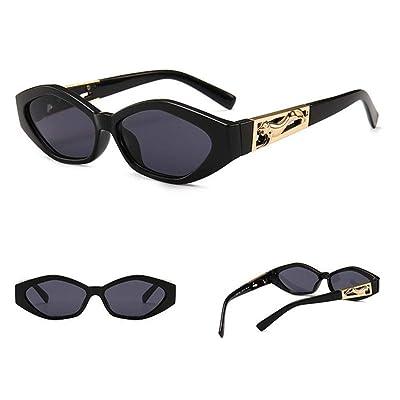 Shi Xin Fang Zhi Gafas de Sol de Ojo de Gato angulares Unisex Piernas Saltando Gafas de Sol Decorativas Doradas de Guepardo (Color : 01): Deportes y aire libre