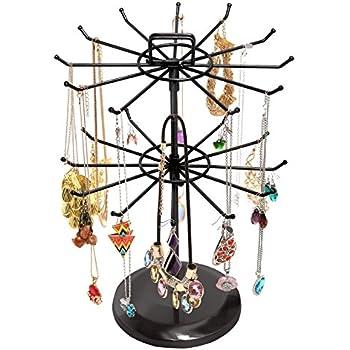 Amazon.com: MyGift 15 inch Black Metal 30-Hook Necklace