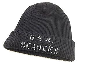 Buzz Rickson's Watch Cap BR02454 U.S.N. Seabees Men's Knit Cap Navy