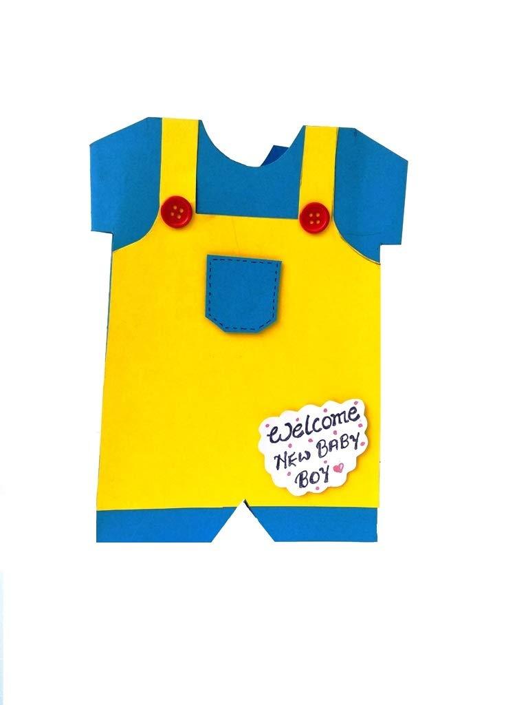 Amazon Com Rmantra Handmade Cute Baby Boy Congratulations Card New Born Baby Greeting Card Handmade