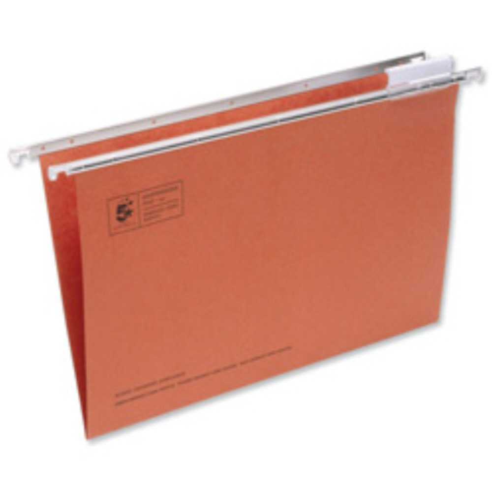 OFFICE SCHOOL COMMERCIAL STATIONERY SUPPLIES 400mm RUNNER LENGTH 50 x RED CARD FOOLSCAP SIZE SUSPENSION FILES WITH TABS AND INSERTS SUSPENDED HANGING DOCUMENT FILING STORAGE FOLDERS WALLETS