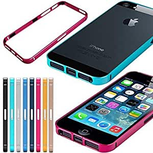 LCJ Pure Color Mental Frame Case for iPhone 5/5S (Assorted Colors) , Golden