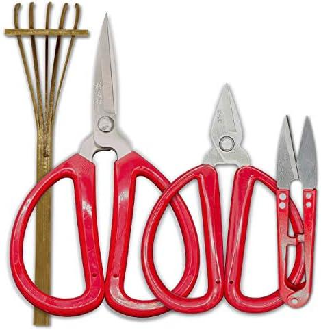 R&R SHOP Kit ciseaux de précision Bonsai – Trimming, élagage de Bonsaï, coupes de précision et de petites branches et racines, rakè de bambou – Lot de 4