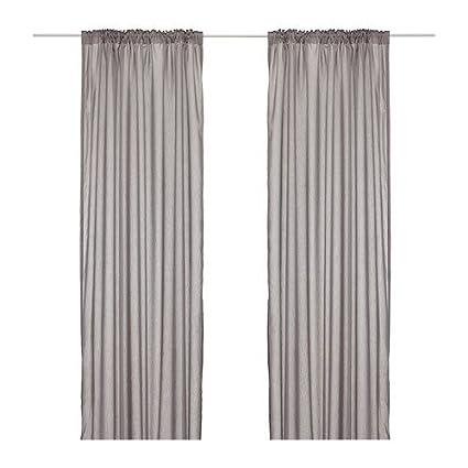 VIVAN IKEA-Tende, 1 paio, colore: grigio, 145 x 300 cm: Amazon.it ...