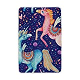 Vantaso Soft Blankets Throw Abstract Unicorn Couple In Love Blue Sky Stars Microfiber Polyester Blankets for Bedroom Sofa Couch Living Room for Kids Children Girls Boys 60 x 90 inch