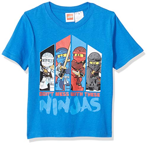 LEGO Ninjago Little Boys Don't Mess with The Ninja's T-Shirt, Blue, - Pack Legos 4
