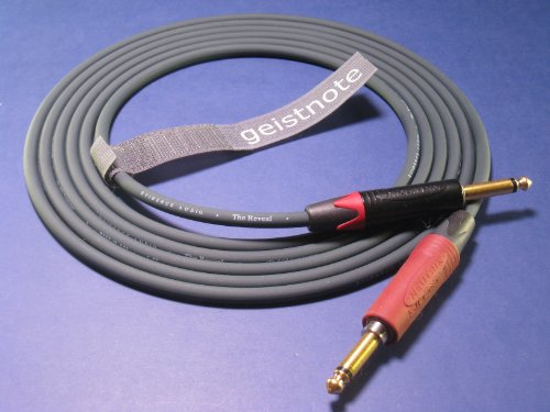 Geistnote's Evidence Audio Reveal Instrument Cable with Neutrik Silent Plug and Gold Connectors 10 Ft (3 M) ~ Straight to Straight