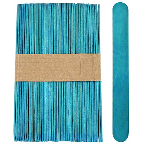 100 Wood Jumbo Craft Sticks Blue Color