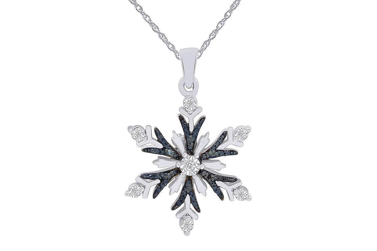 Amazon.com: Blue & Natural Diamond Accent blanco Copo de ...