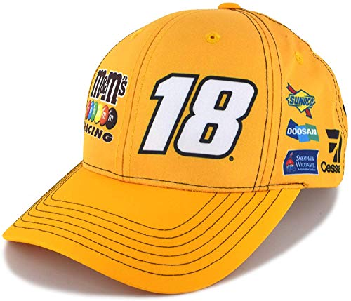 - Checkered Flag Kyle Busch 2019 Sponsor Uniform NASCAR Hat Yellow