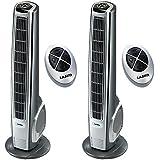 Lasko 40 Inch Widespread Oscillation Hybrid Tower Fan w/ Remote Control (2 Pack)
