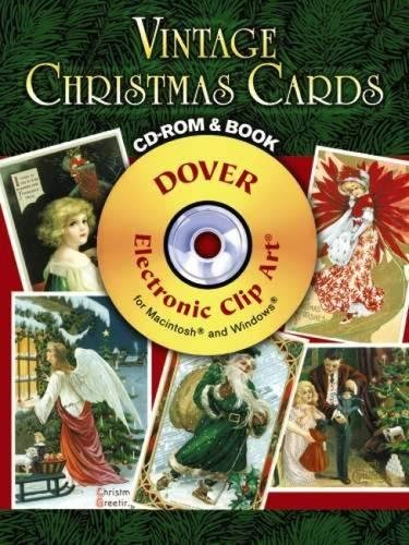 (Vintage Christmas Cards CD-ROM and Book (Dover Electronic Clip Art))