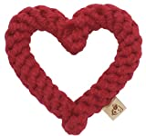 Jax and Bones Good Karma Rope Toys Heart - Red