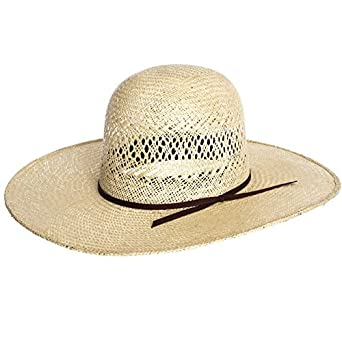 70e124d395 RODEO KING Jute Straw Cowboy Hat 4 1 2 Inch Brim at Amazon Men s Clothing  store