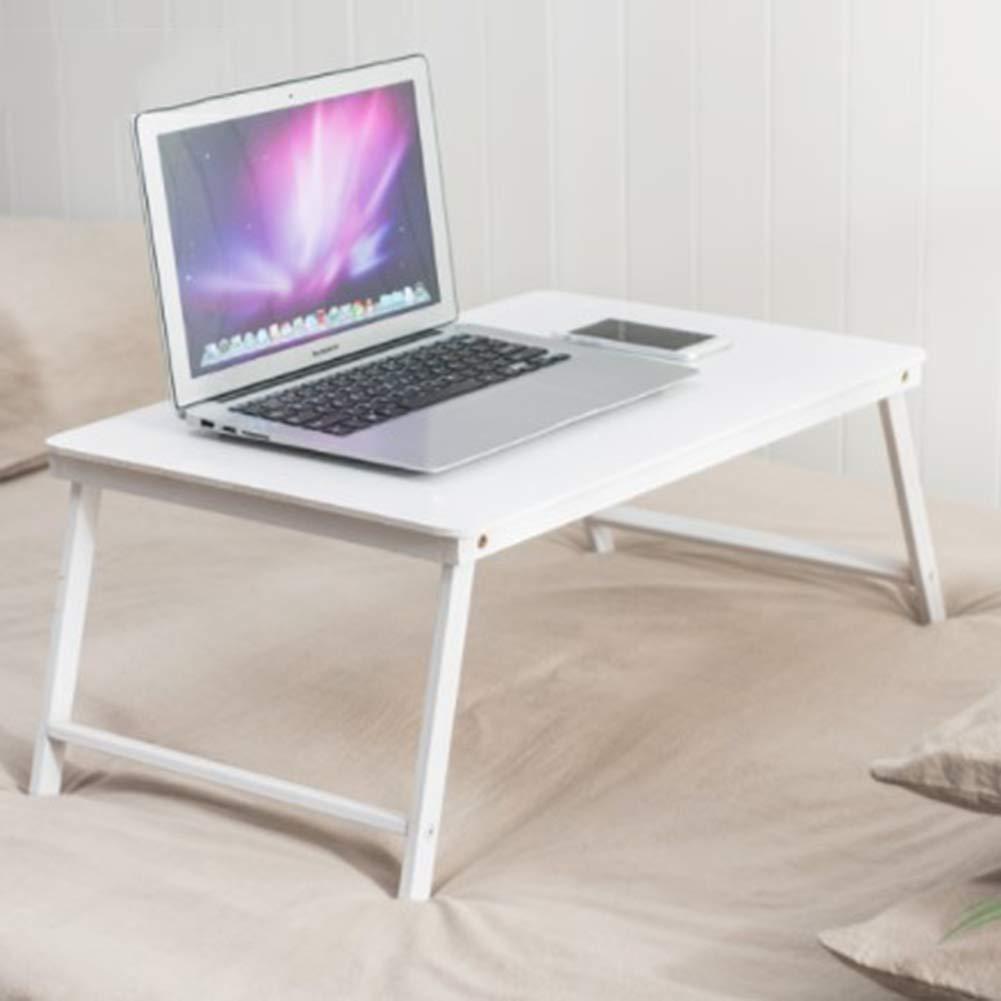 NEYIUIA Escritorios Escritorios NEYIUIA para Pequeños Espacios Plegable Soporte para Computadora Portátil, Madera Maciza Cabecera Escritorio De Estudio/Comedor / Lazy Table,Azul 400db5