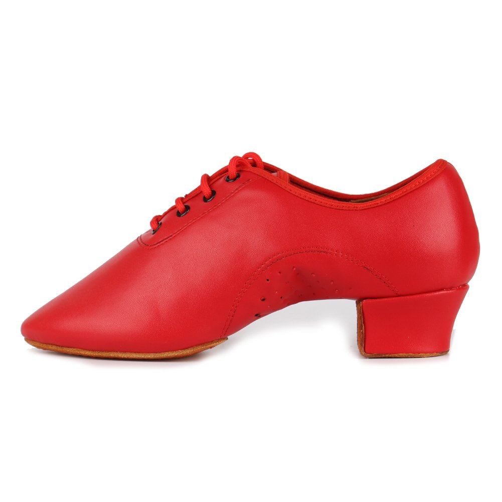 Roymall Boy's&Kid's Leather Professional Latin Dance Shoes Ballroom Jazz Tango Waltz Performance Shoes
